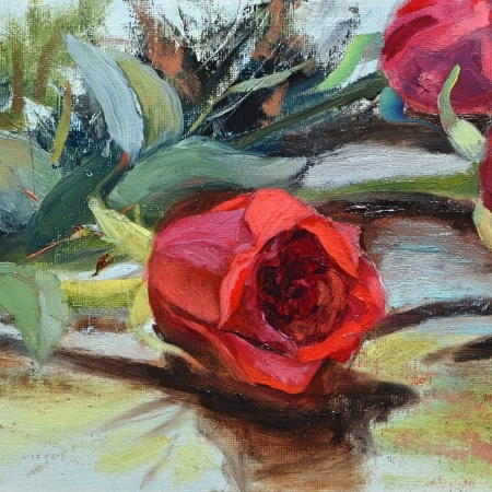 Valentine's Roses, by Christy Michalak 2017