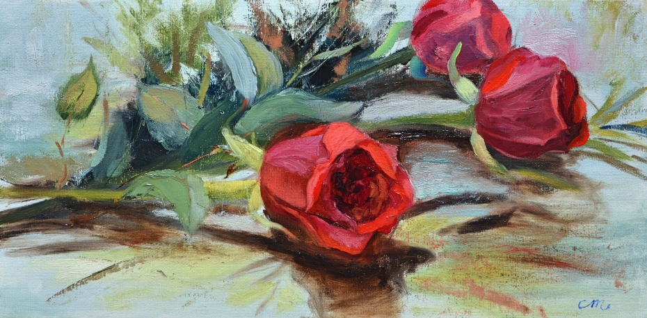 Valentine's Roses, by Christy Michalak 2017